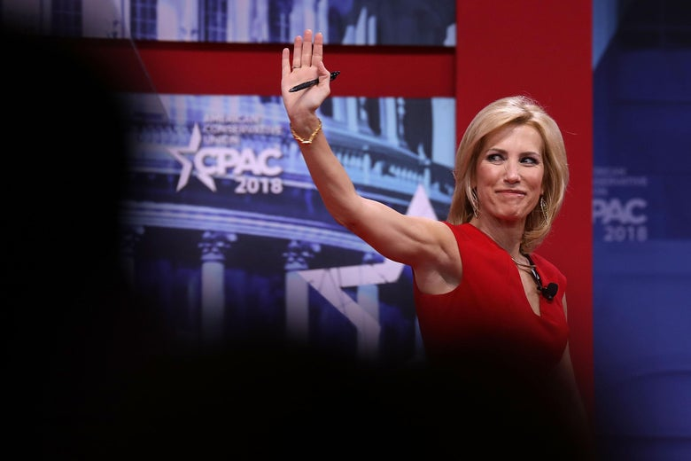 Fox News Channel host Laura Ingraham addresses the Conservative Political Action Conference at the Gaylord National Resort and Convention Center February 23, 2018 in National Harbor, Maryland.