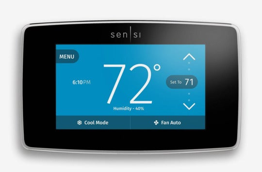 Emerson Sensi Touch Wi-Fi Thermostat.