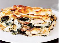Turkey and veggie lasagna.