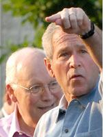 President George W. Bush and Vice President Dick Cheney. Click image to expand