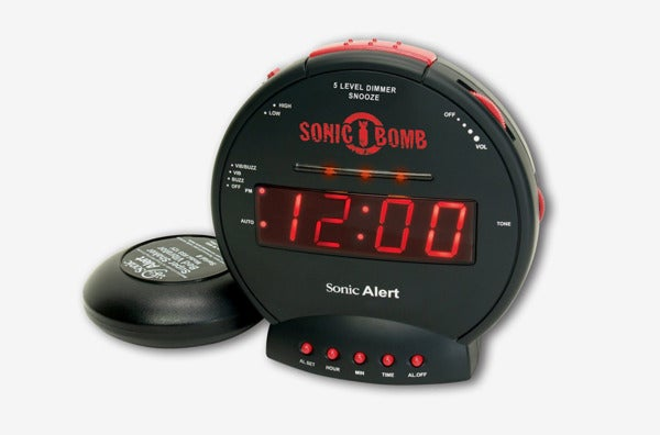 Sonic Alert Sonic Bomb Loud Dual Alarm Clock.