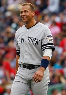 Alex Rodriguez #13 of the New York Yankees.