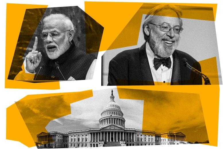 Narendra Modi, Kenneth Turan, and the U.S. Capitol.
