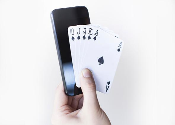 Royal flush, smartphone