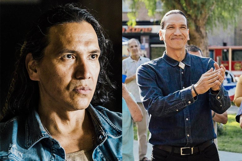 Michael Greyeyes in Wild Indian and Rutherford Falls