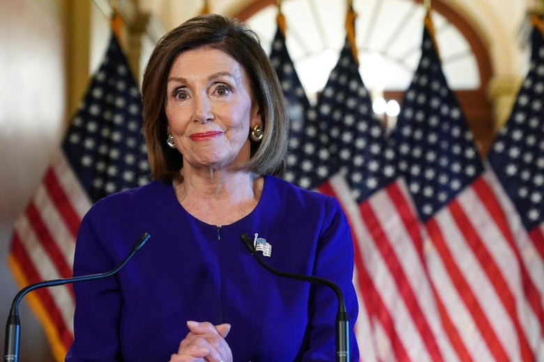U.S. House Speaker Nancy Pelosi announces a formal impeachment inquiry at the Capitol Building on September 24, 2019 in Washington, DC.
