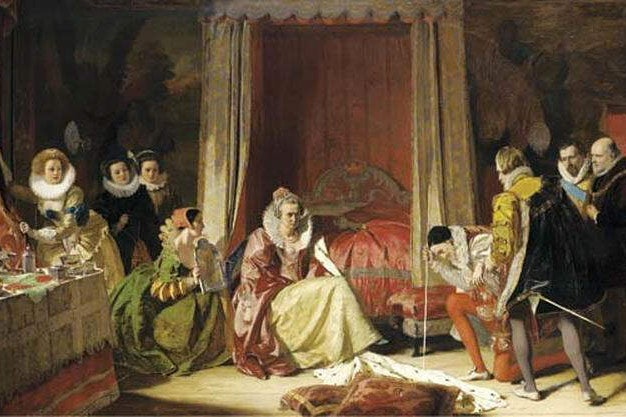 Painting: Queen Elizabeth discovers she is no longer young