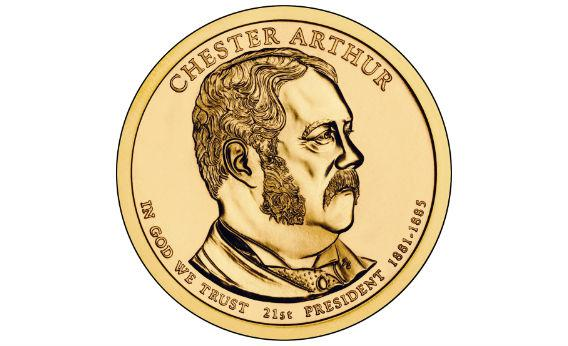 The new $1 Chester A. Arthur coin.