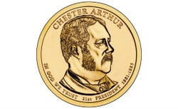 The new $1 Chester A. Arthur coin.