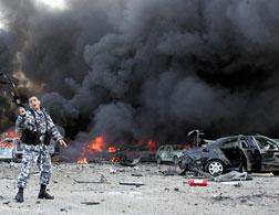 The explosion that killed former Lebanese premier Rafiq Hariri in Beirut, 2005. Click image to expand.