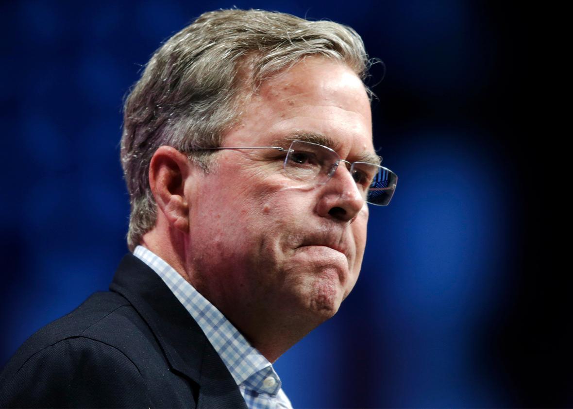 U.S. Republican presidential candidate Jeb Bush speaks in Orlando, Florida, Nov. 13, 2015.