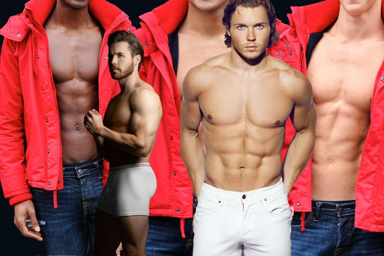 Various shirtless hunks.