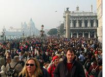 Tourists in Venice, Italy.         Click image to expand.
