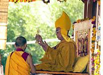 His holiness chanting a prayer