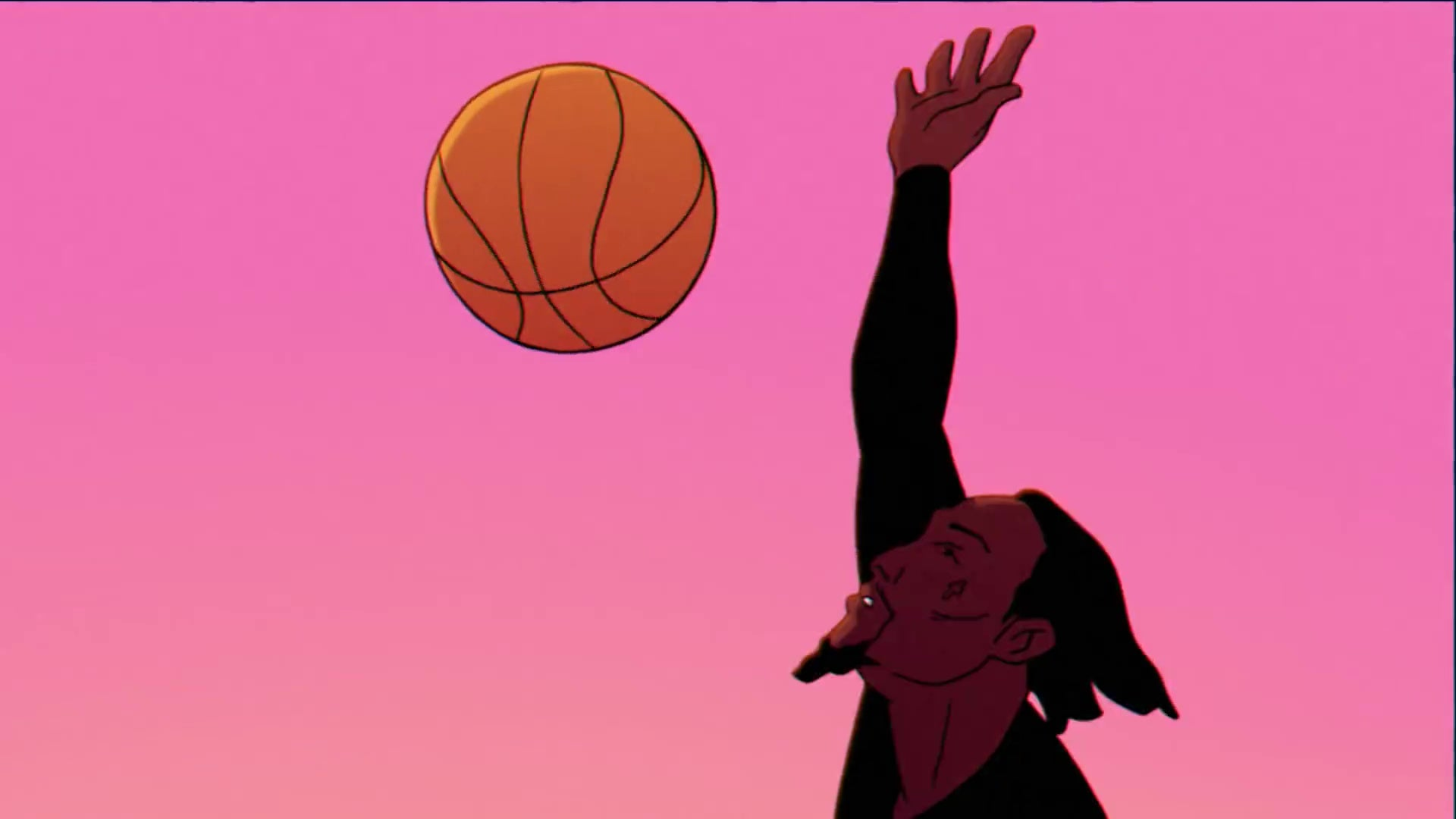 An animated version of Offset, blocking a basketball shot.