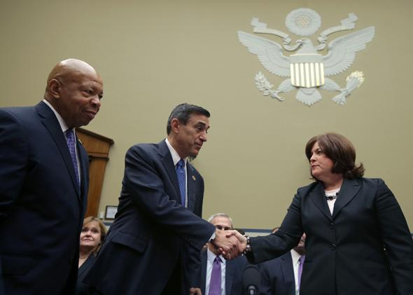 Darrel Issa and Julia Pierson