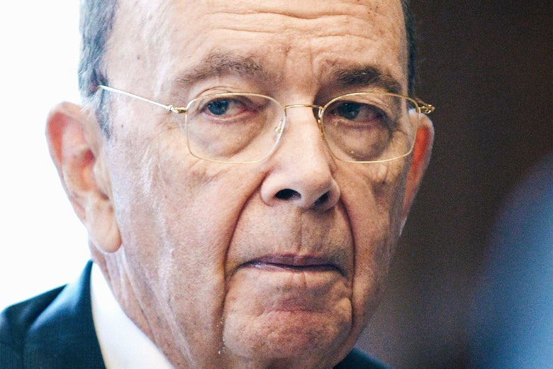 U.S. Secretary of Commerce Wilbur Ross gestures during an October interview with Reuters in Washington