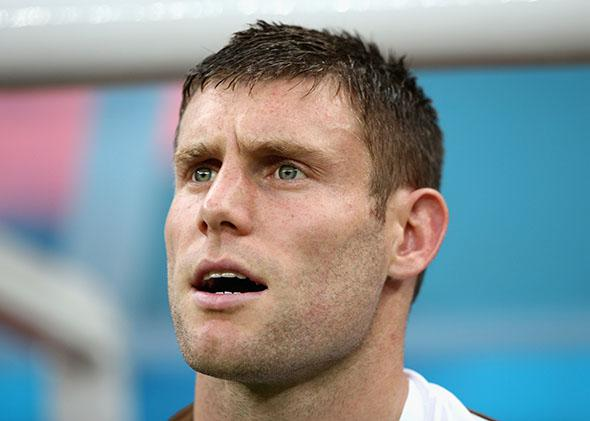 James Milner of England during the 2014 FIFA World Cup.
