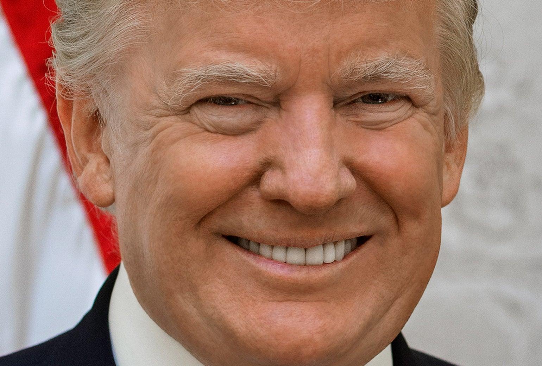 Donald J. Trump's official portrait.