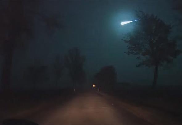 Very Bright Fireball Over Europe Saturday Night