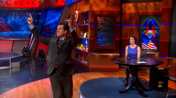 Emily Bazelon on The Colbert Report.