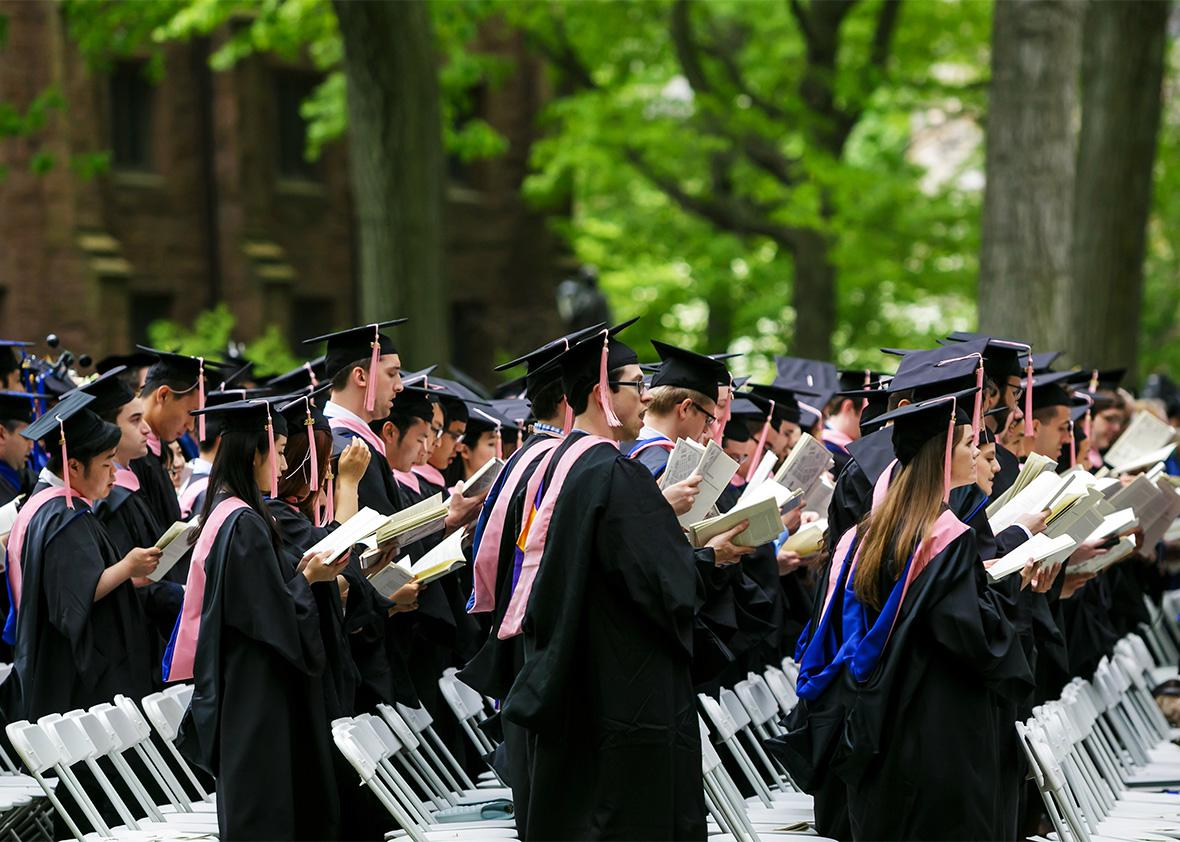 Yale University graduation ceremony.