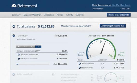 Betterment online investment app