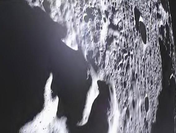 One of the last images from the lunar GRAIL spacecraft.