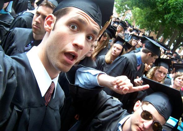 Alexis Ohanian graduating from the University of Virginia in 2005.