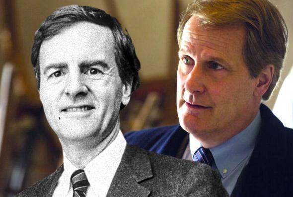 John Sculley, left, Apple's president in 1984, and Jeff Daniels