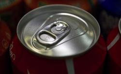Coke soda can.