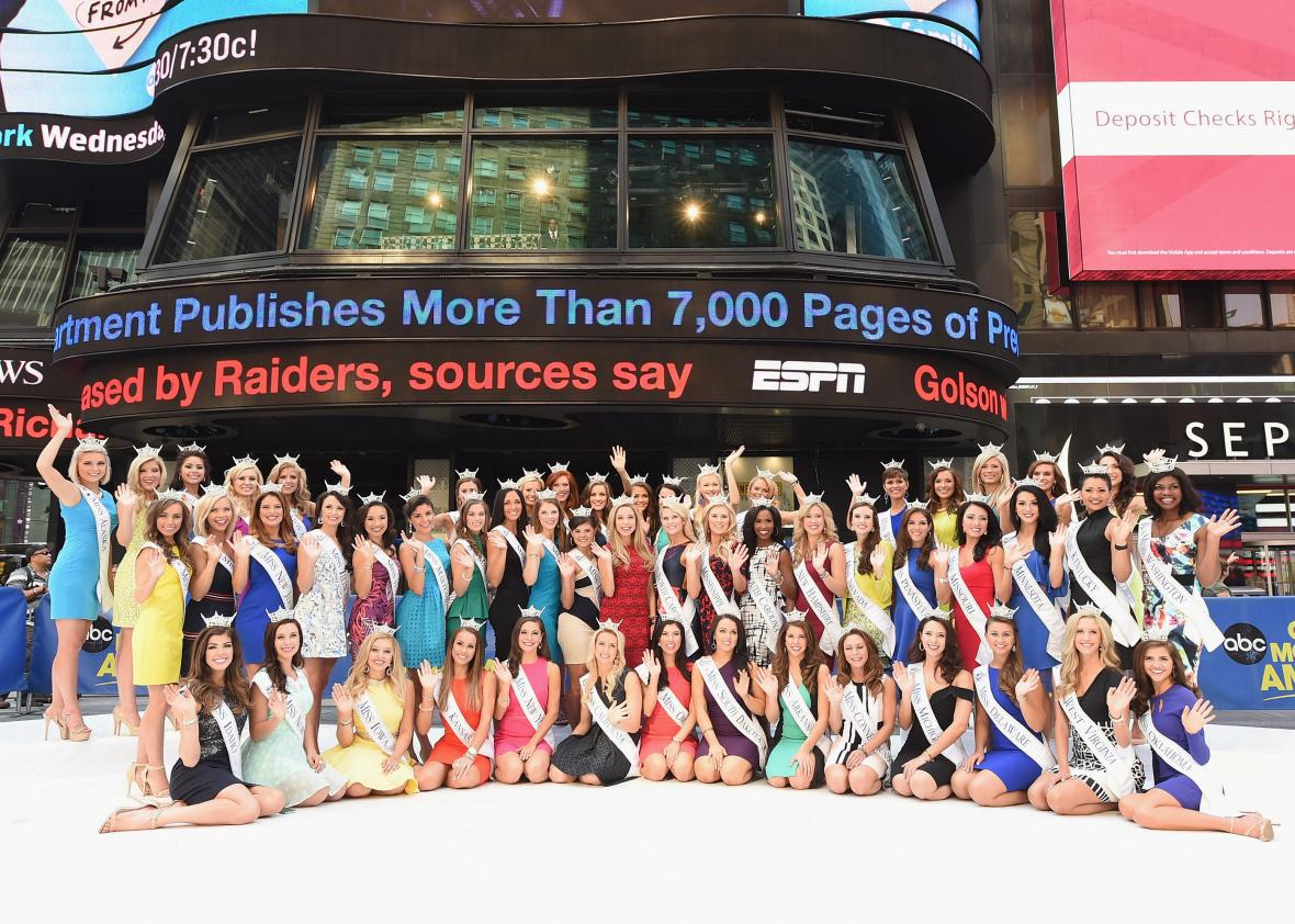 The first openly gay Miss America contestant will compete