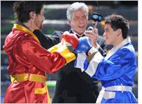 Michael Buffer introduces David Cook and David Archuleta on American Idol. Click image to expand.