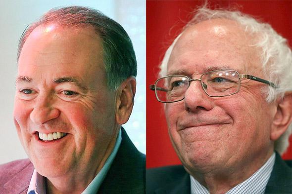 Mike Huckabee, Bernie Sanders