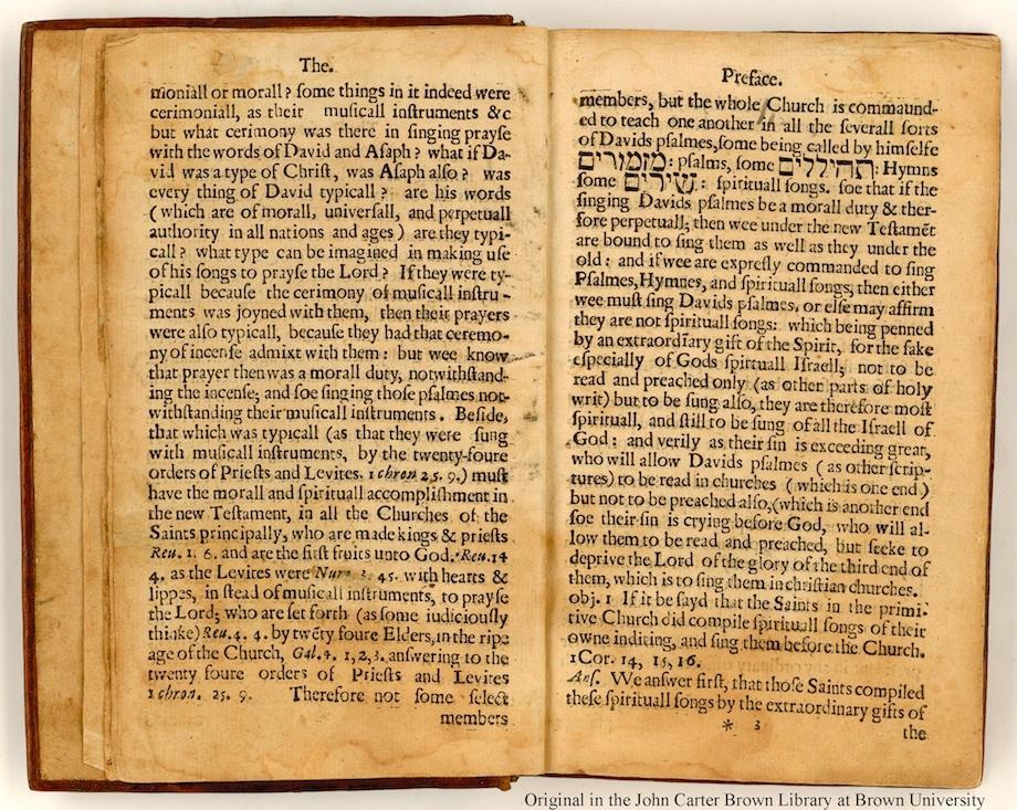 Page of the Bay Psalm Book