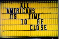 Close sign.