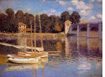 The Argenteuil Bridge by Claude Monet. Click image to expand.