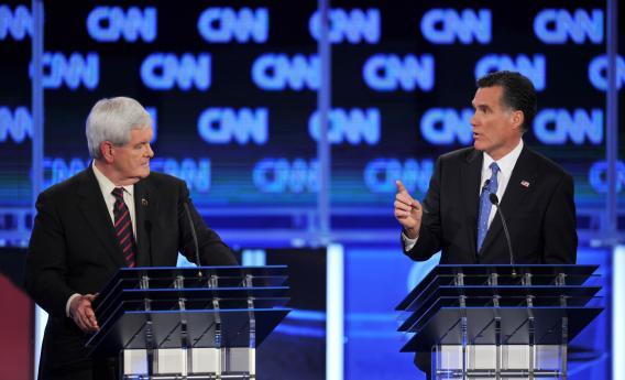 Rick Santorum, Newt Gingrich, Mitt Romney, Ron Paul