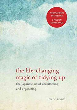The cover of The Life-Changing Magic of Tidying Up.