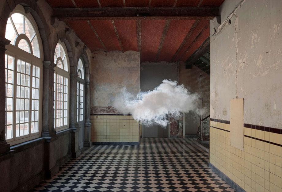Berndnaut Smilde, Nimbus D'Aspremont, 2012, Cloud in room, c-type print on dibond, 125 x 184 cm, Photo Cassander Eeftinck Schattenkerk