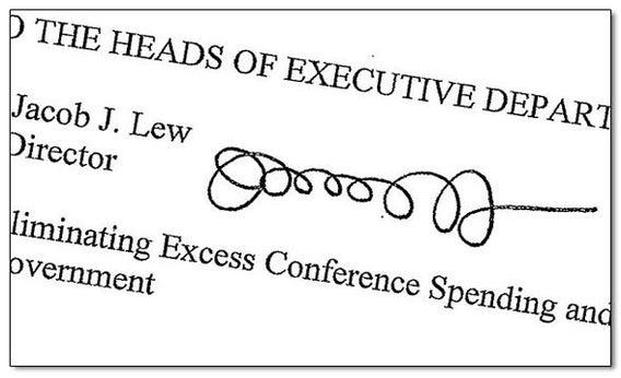 Jack Lew's signature.