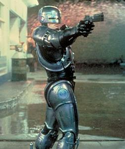 Peter Weller as RoboCop. Click image to expand.
