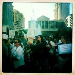 Rally at Caesars Palace.