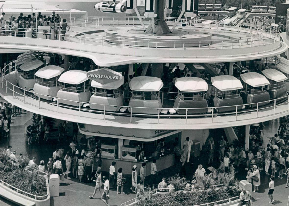 Tomorrowland in the People Mover Station, hub of the world of the future.
