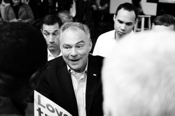 Tim Kaine in North Carolina in October 2016
