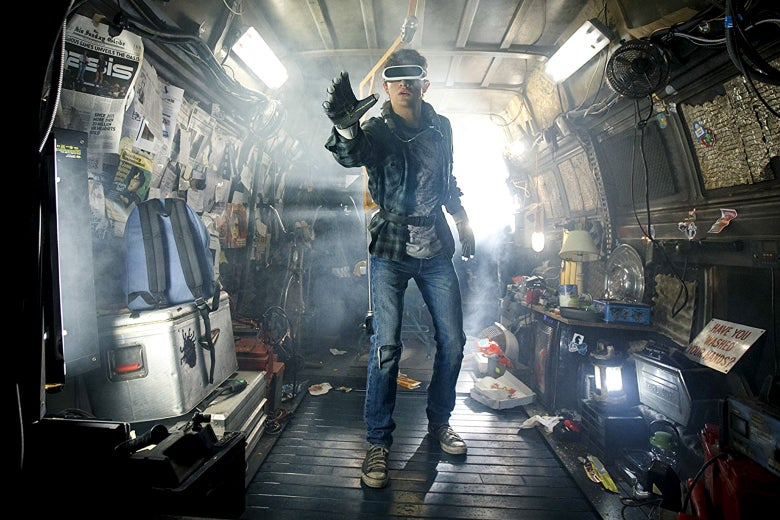 Tye Sheridan in Ready Player One.
