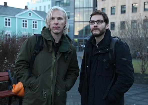 Benedict Cumberbatch and Daniel Brühl in The Fifth Estate.