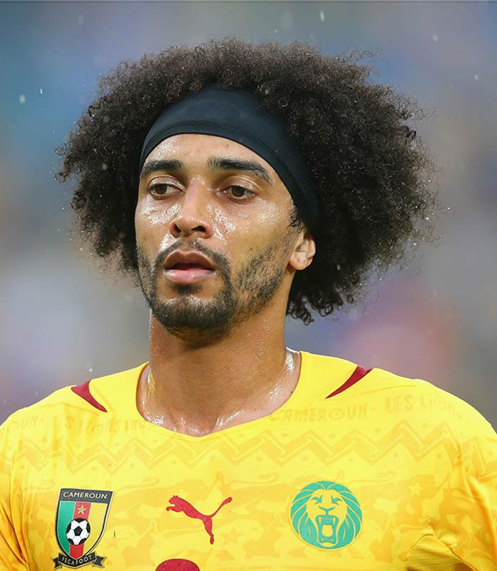 Benoît Assou-Ekotto of Cameroon looks on during the 2014 FIFA World Cup Brazil.