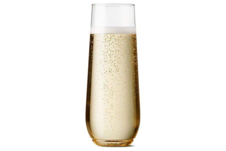 Tossware champagne flutes.