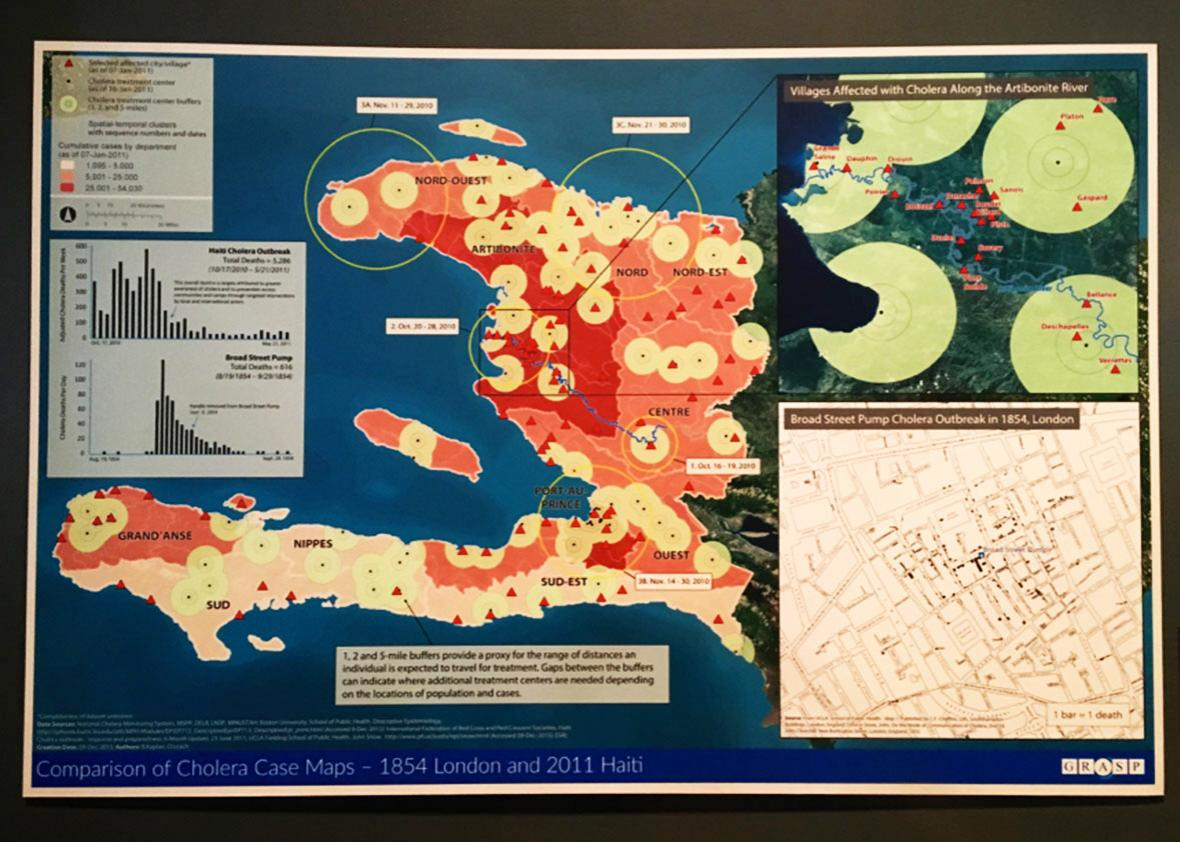 What caused Haiti's cholera epidemic? The CDC's museum knows ... on infectious disease outbreak chart, 2014 west nile virus map, human disease outbreaks map, infectious disease contact, infectious disease outbreaks 2014, global drug map, world disease map, ohio infectious disease risk map, global disease map, interactive disease map, 2014 vaccine preventable diseases map, black death bubonic plague map, infectious disease worldwide, infectious disease concept map, foot and mouth disease outbreak map,